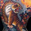 tatuaggio Giapponesi Schiena Tigre di Chapel Tattoo
