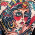 Old School Back Gypsy tattoo by Chapel Tattoo