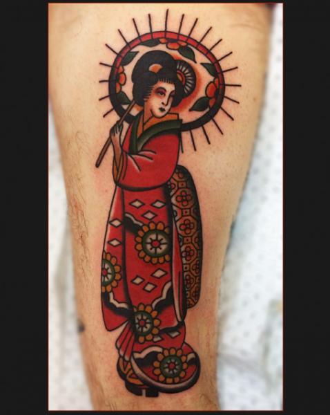 Arm Geisha Tattoo by Chapel Tattoo