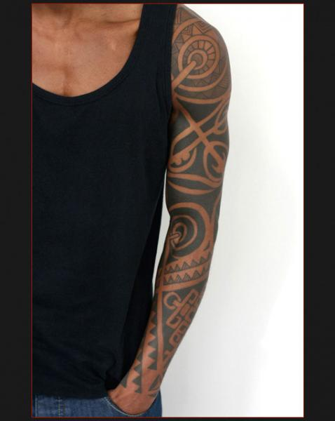 Tribal Sleeve Tattoo by Chapel Tattoo