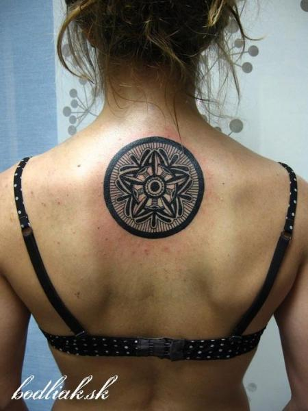 Back Geometric Tattoo by Bodliak Tattoo