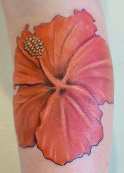 Tatuaje Brazo Flor por Herzstich Tattoo