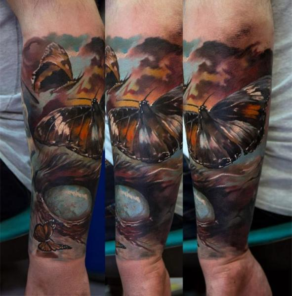 Arm Motte Sleeve Tattoo von Domantas Parvainis