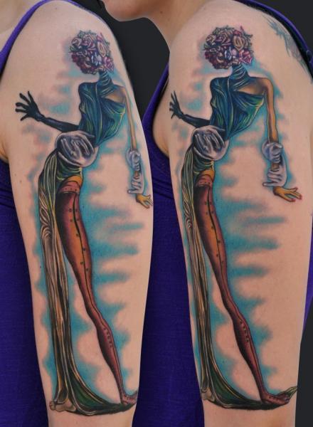 Arm Fantasy Tattoo by Jamie Lee Parker