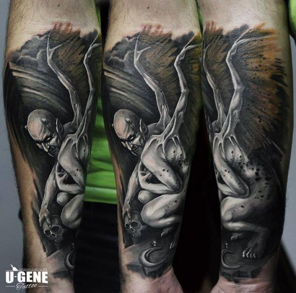 Arm Fantasy Monster Tattoo by Redberry Tattoo