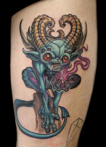 Tatuaje Fantasy Monstruo por Powerline Tattoo
