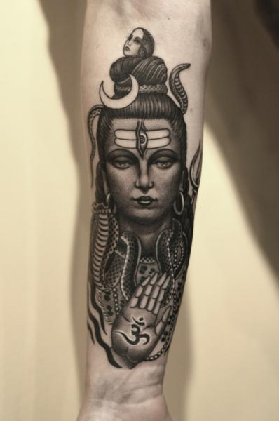 Arm Buddha Tattoo by RG74 tattoo