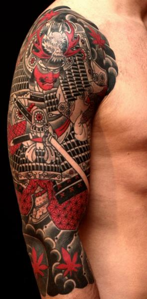 Shoulder Samurai Tattoo by RG74 tattoo