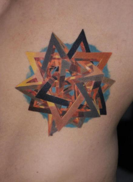 Side Geometric Tattoo by Nikita Zarubin