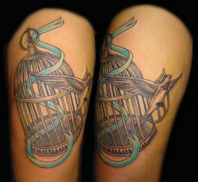 Arm Bird Cage Tattoo by Fade Fx Tattoo