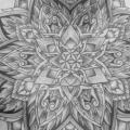 tatuagem Peito Flor Barriga Dotwork por Fade Fx Tattoo