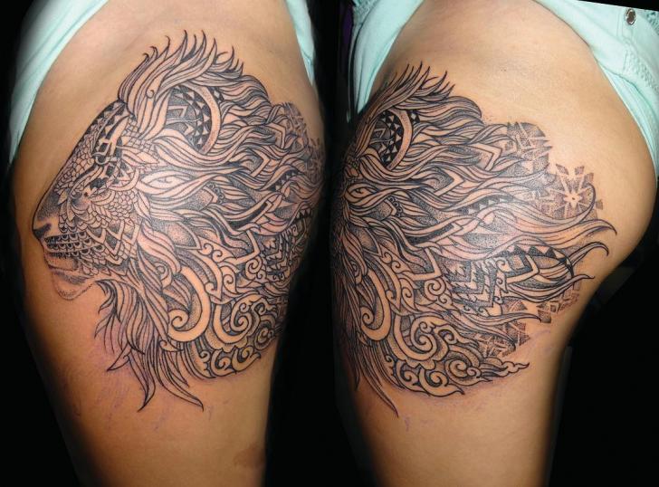 Schulter Löwen Tattoo von Fade Fx Tattoo