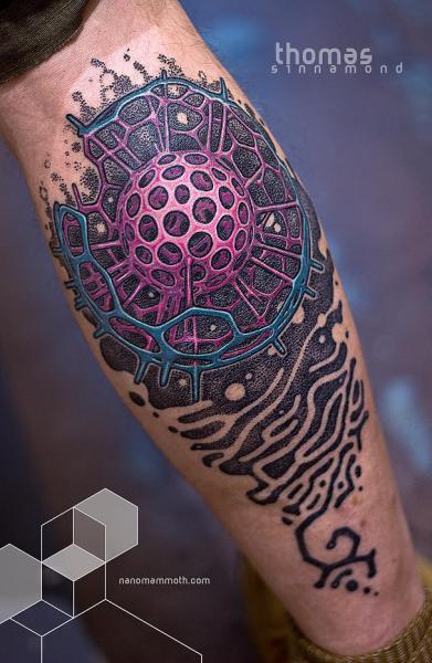 Tatuaje Brazo Abstracto por Thomas Sinnamond