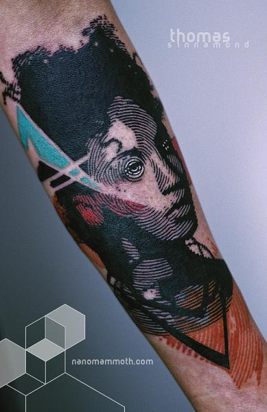 Arm Tattoo by Thomas Sinnamond