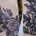Flower Side Butt tattoo by Thomas Sinnamond