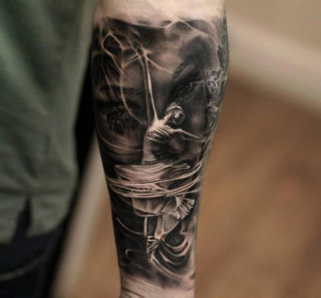 Arm Dancer Tattoo by Matthew James
