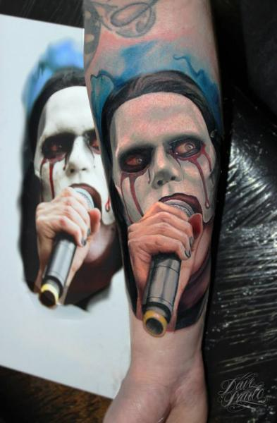 Arm Portrait Realistic Tattoo by Dave Paulo