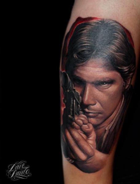 Tatuaggio Braccio Ritratti Star Wars di Dave Paulo