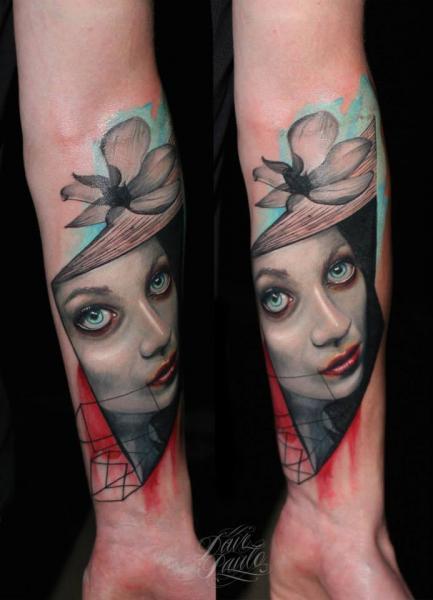 Arm Flower Women Tattoo by Dave Paulo