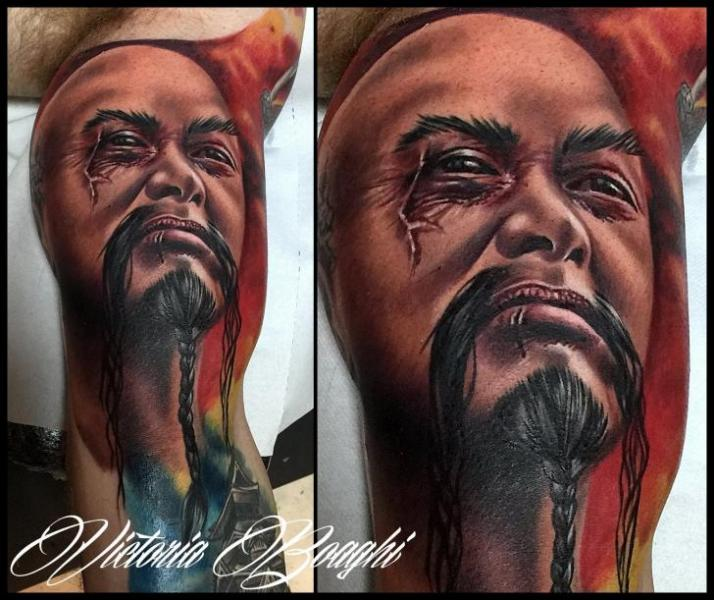 Arm Portrait Tattoo by Victoria Boaghi