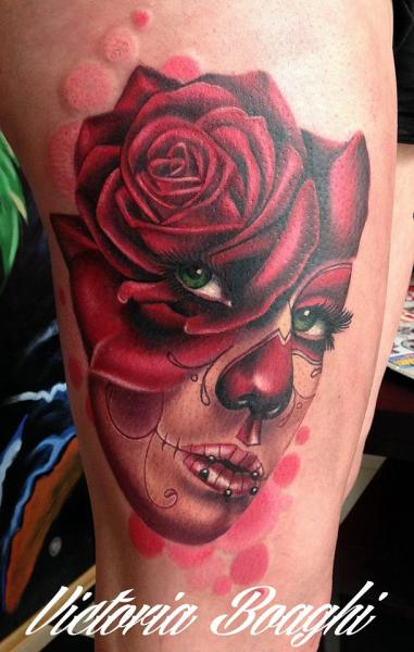 Tattoo arm frauen rosen