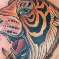 tatuaggio Petto Tigre di Twisted Anchor Tattoo