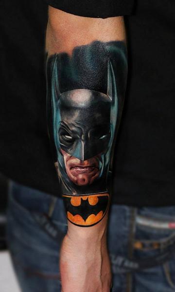 Arm Batman Tattoo by Carlox Tattoo