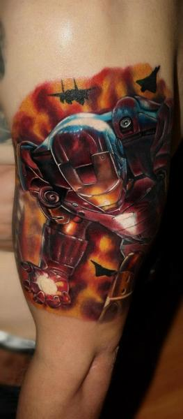 Arm Ironman Tattoo by Carlox Tattoo