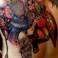 Realistic Back Warrior tattoo by Puedmag Custom Ink Tattoos