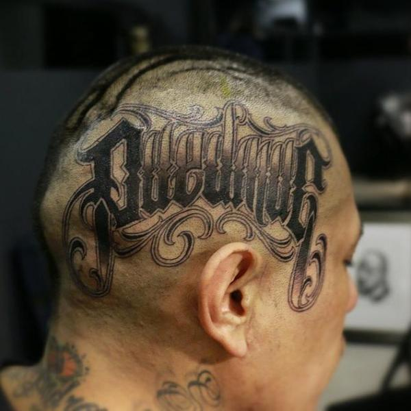 Lettering Head Fonts Tattoo By Puedmag Custom Ink Tattoos