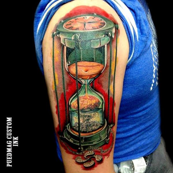 Schulter Wasseruhr Tattoo von Puedmag Custom Ink Tattoos