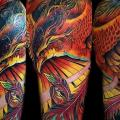 Shoulder Fantasy Phoenix tattoo by Puedmag Custom Ink Tattoos