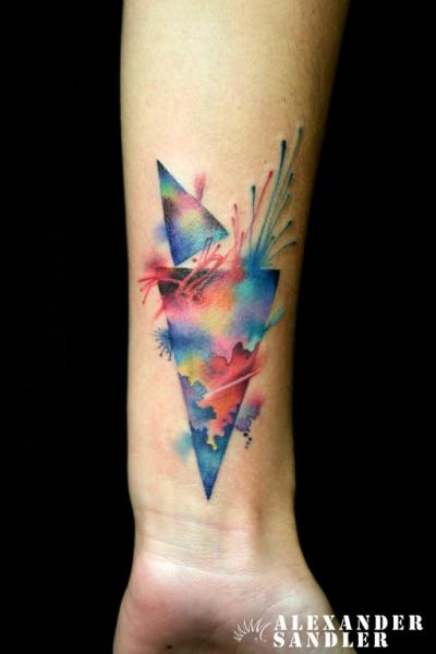 Arm Aquarell Tattoo von Kipod Studio