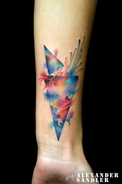 Arm Water Color Tattoo by Kipod Studio