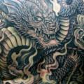Back Dragon tattoo by Kipod Studio