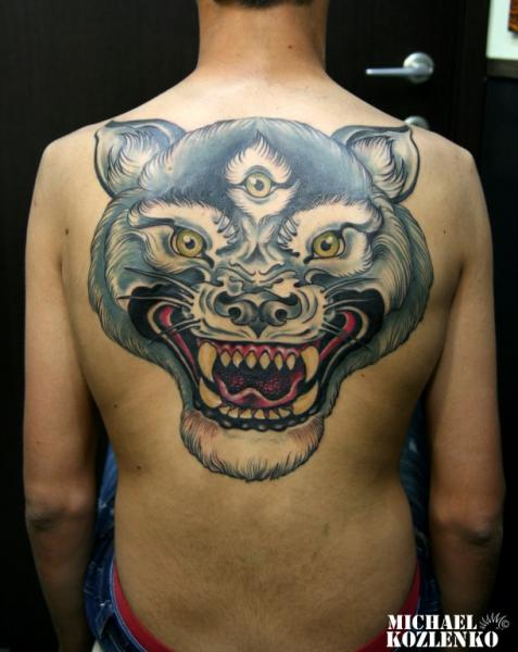Back Wolf Tattoo by Kipod Studio
