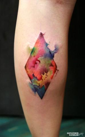 Tatuaje Ternero Abstracto Acuarela por Kipod Studio