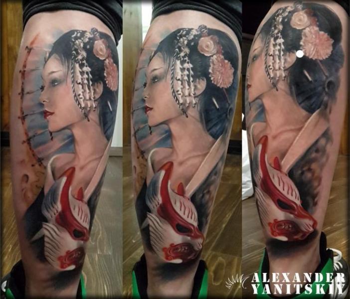 Calf Geisha Tattoo by Kipod Studio