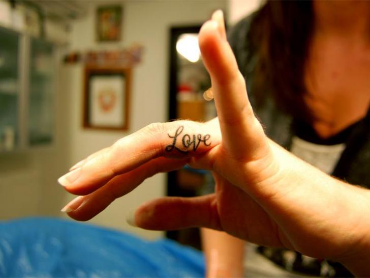 Finger Lettering Tattoo by Fairlane Tattoo