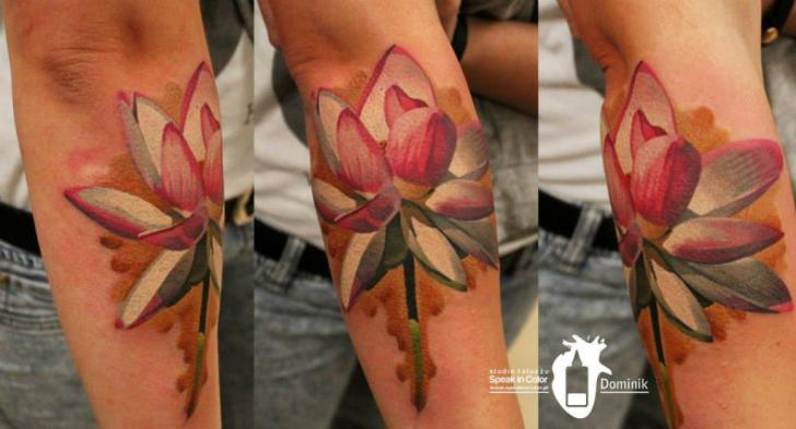 Arm Flower Tattoo by Kwadron Tattoo Gallery