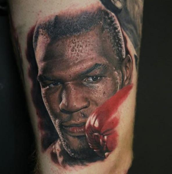 Arm Portrait Mike Tyson Tattoo by Kwadron Tattoo Gallery