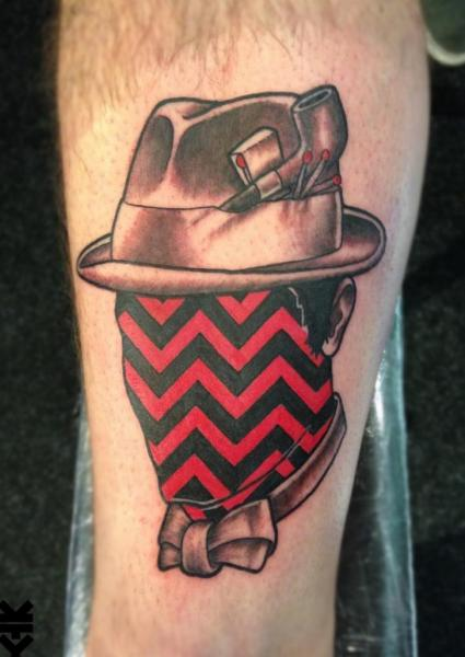 Calf Men Hat Tattoo by On Point Tattoo