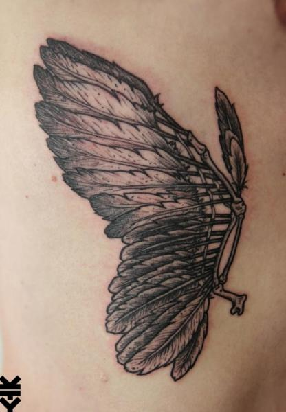 Feather Wings Tattoo by On Point Tattoo