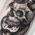Arm Snake Skull tattoo by Sacred Art Tattoo