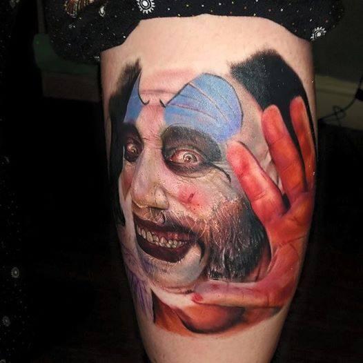 Portrait Clown Tattoo by Sacred Art Tattoo