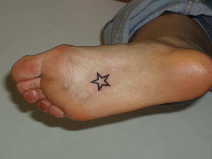 Foot Star Tattoo by Sacred Art Tattoo