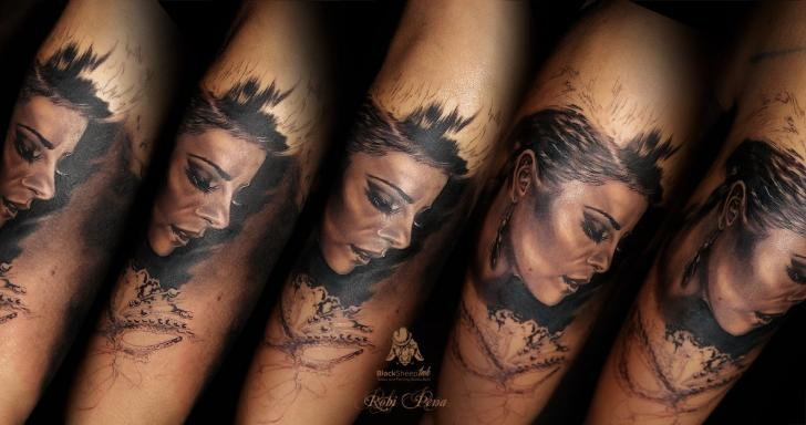 Arm Realistic Women Tattoo by Blacksheep Ink