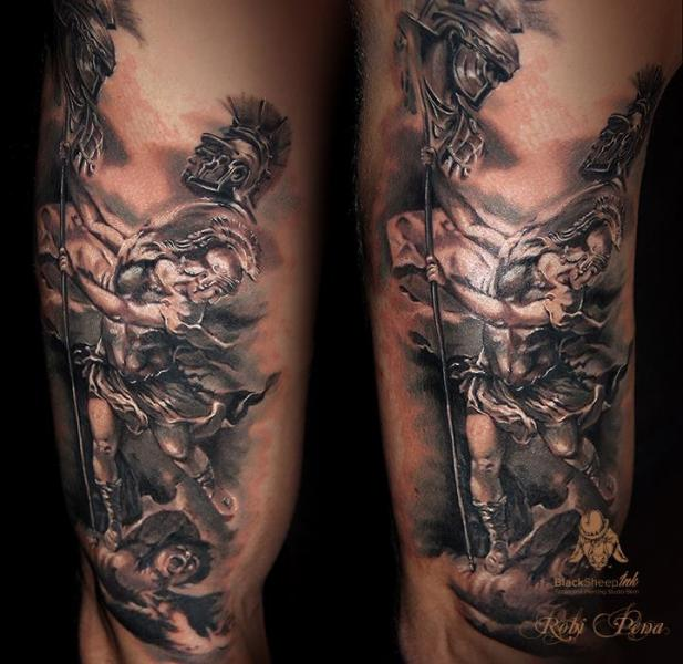 Arm Krieger Tattoo von Blacksheep Ink