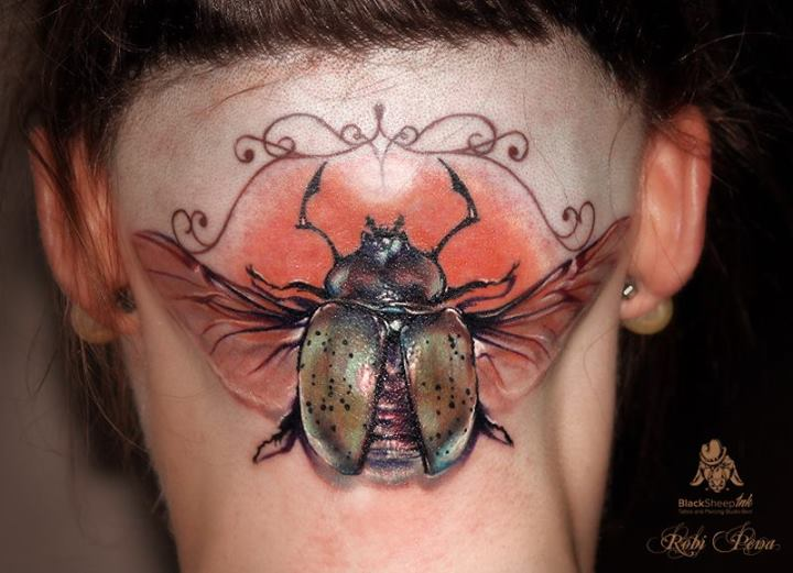Head Neck Scrabble Tattoo by Blacksheep Ink