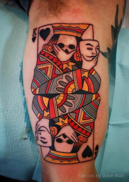 Tatuaż Ręka Karta Przez Dave Wah